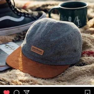 overthrow Accessories - NEW suede and chambray Oswego  camp hat 5-panel